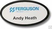 Plastic Oval Name Tags