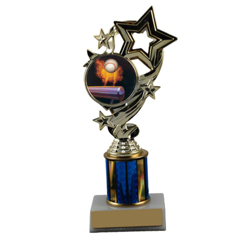 Baseball Star Ribbon Trophy