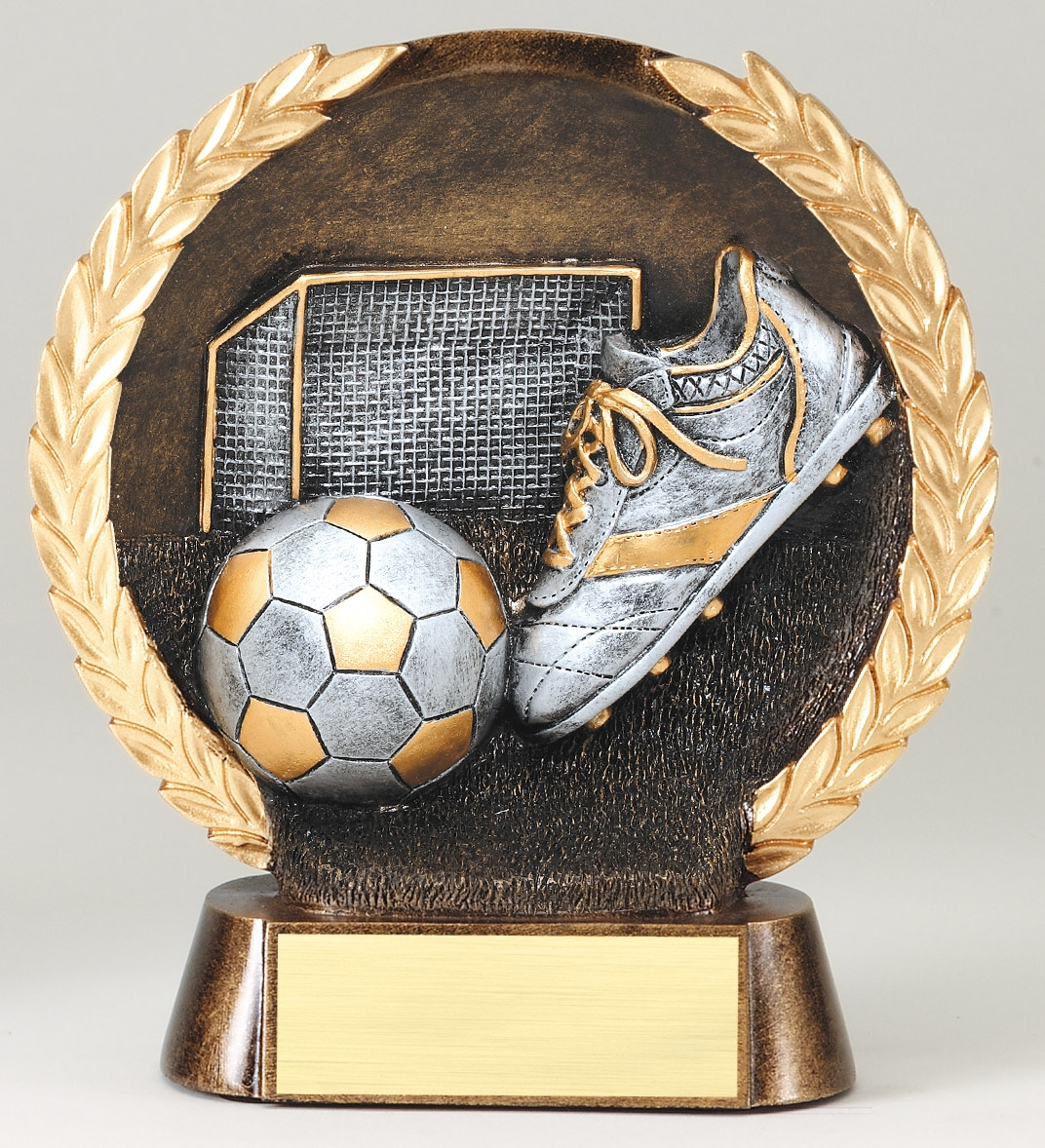 Silver Soccer High Relief Resin