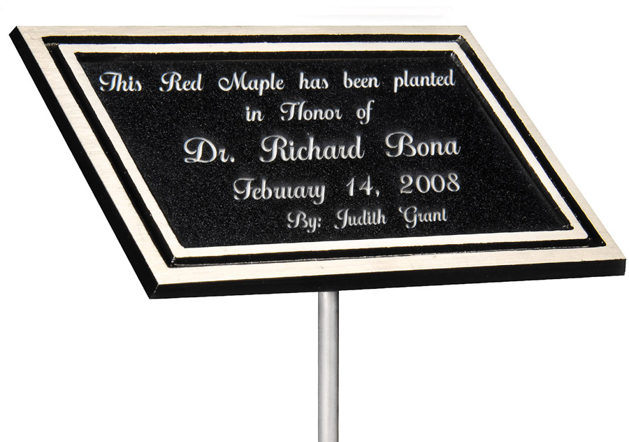Cast Aluminum Plaques with Stake