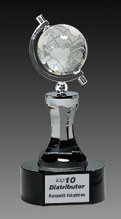 Crystal Spinning Globe