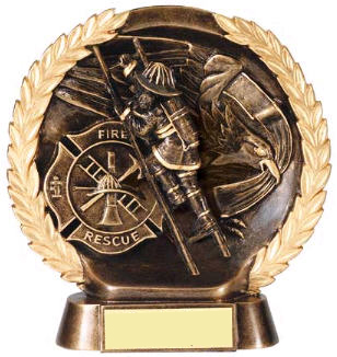 Fireman High Relief Resin Award