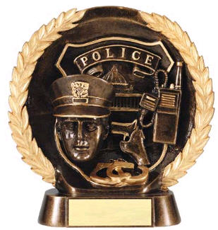 Police High Relief Resin Award