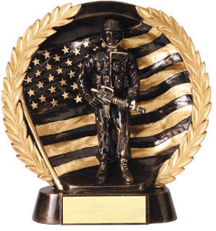 Military High Relief Resin Award