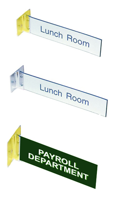 Double Sided Corridor Signs with Bracket