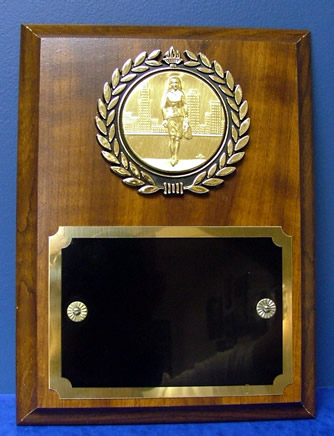 Cherry Finish Plaque with Disk Insert