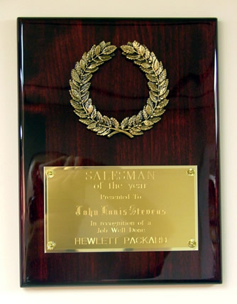 High Gloss Wreath Plaque