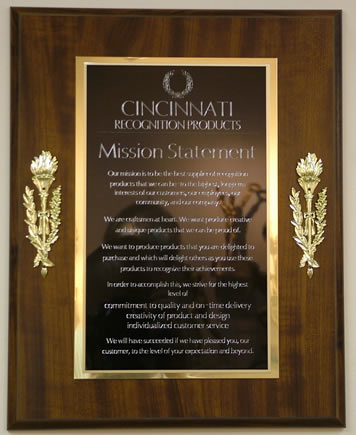 Torch Series Plaque