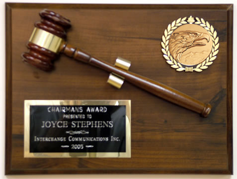 Gavel Plaque Series