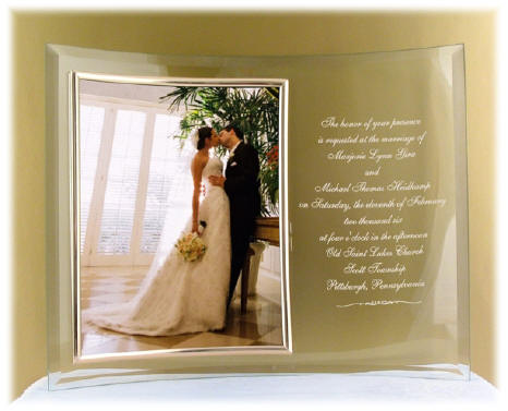 Curved Wedding Picture Frame